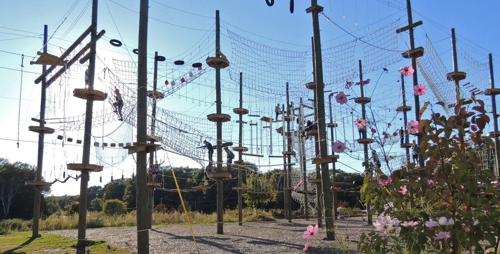Ropes Course on the Maine Coast