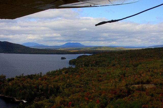 Soaring over the rivers and lakes in southern Maine.